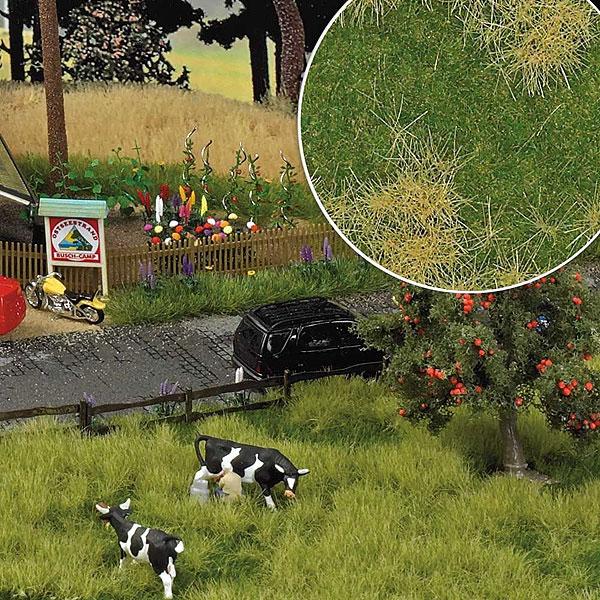 【芝生フィルム】 春の牧草 2色混合 :ブッシュ 素材 HO(1/87) 1307
