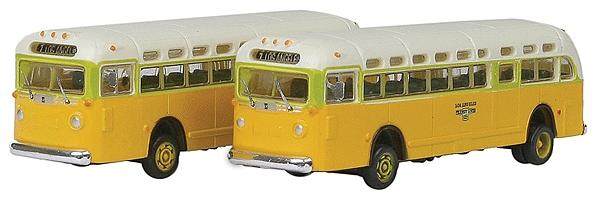 GMC TD 3610 トランジットバス ロサンゼルス 2台入り :ミニメタル 完成品 N(1/160) 52303