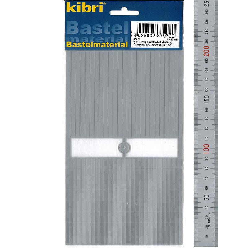 波板とトタン屋根材 2種セット 90 × 120 mm 各1枚 :キブリ プラ素材 N(1/150) 37972