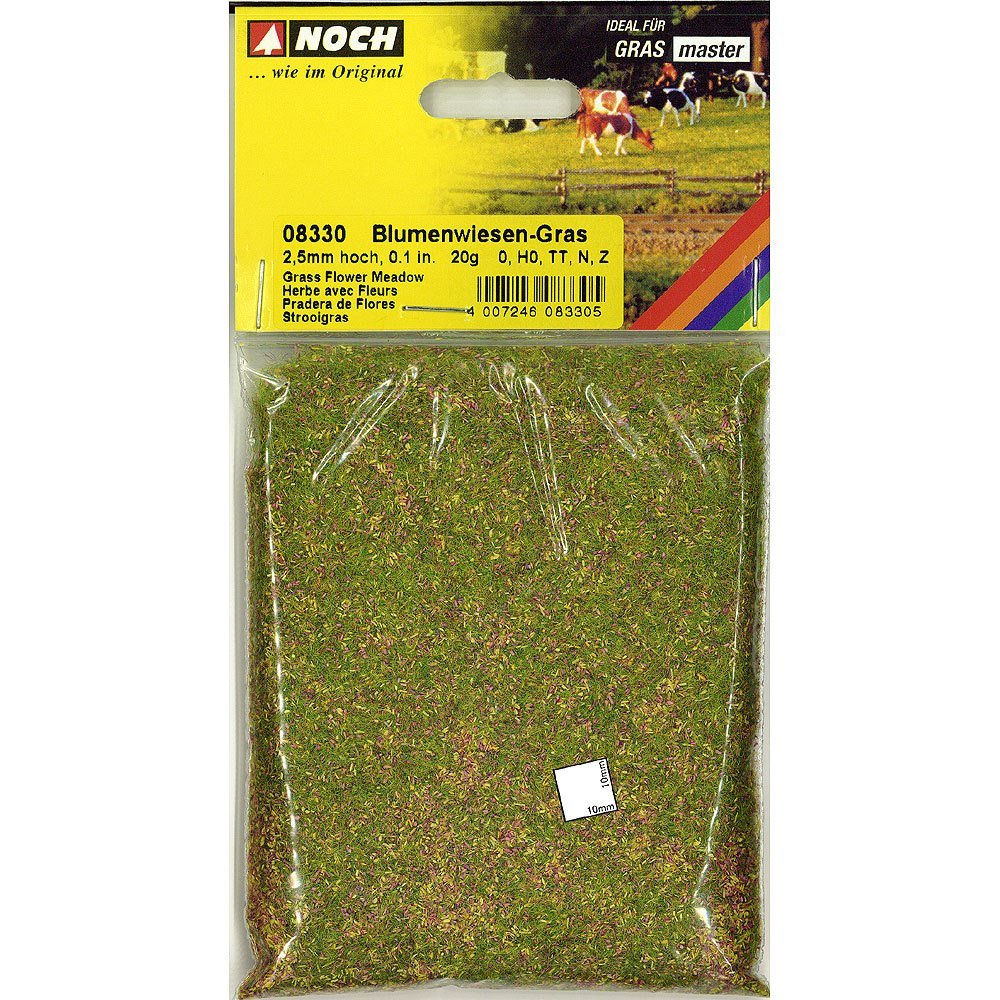 グラスマスター用繊維系素材 スタティックグラス 2.5mmとカラーパウダーのブレンド 花の草原 20g :ノッホ 素材 ノンスケール 8330
