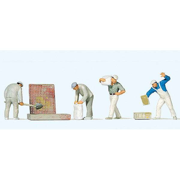 左官職人 (左官作業員) :プライザー 塗装済完成品 HO(1/87) 10654