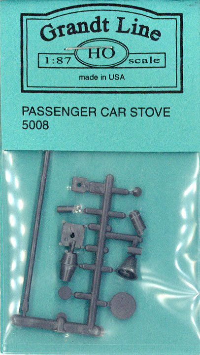 客車用 ストーブ(鉄道車輌用ストーブ) :グラントライン 未塗装キット(部品) HO(1/87) 5008