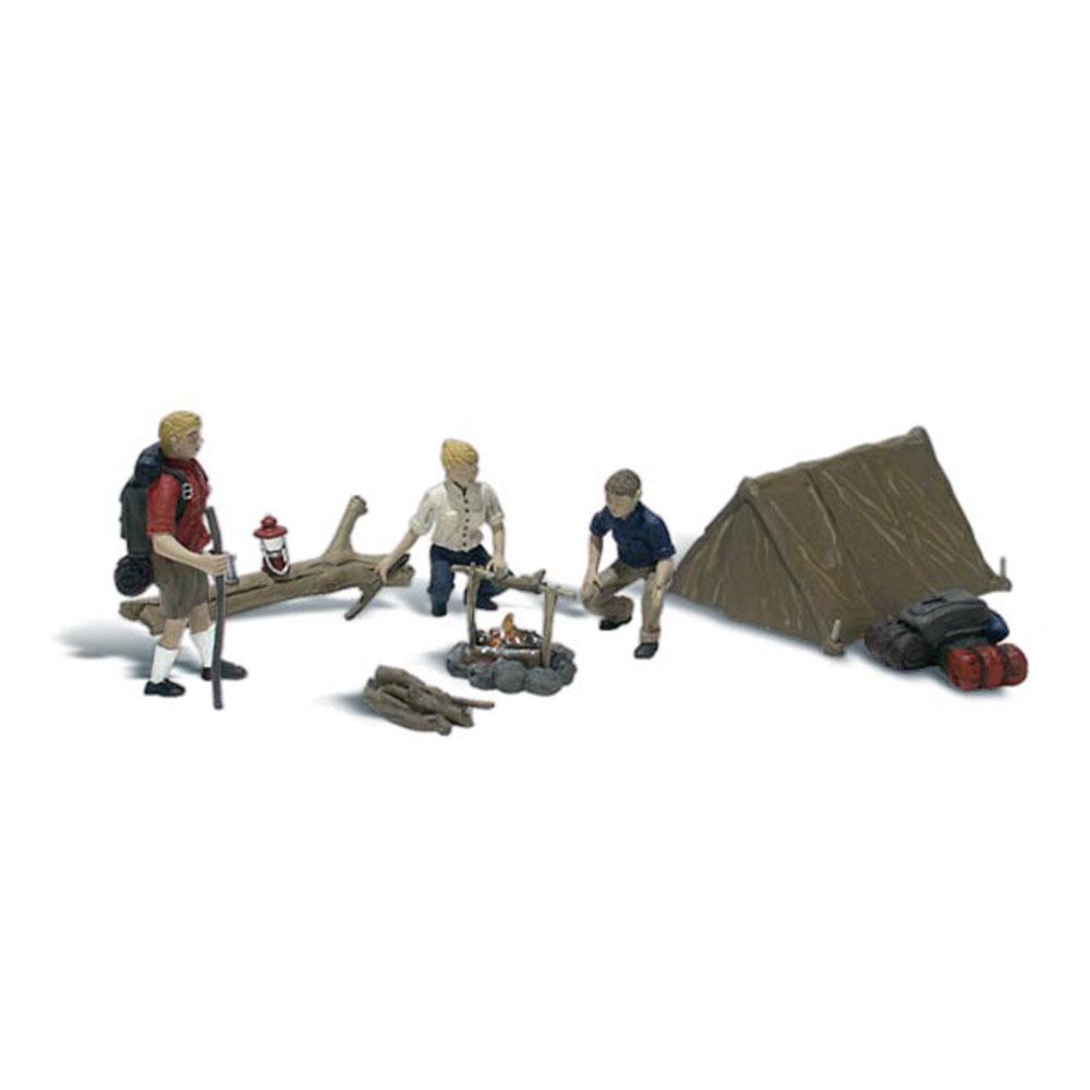 キャンプする人々(キャンパー) :ウッドランド 塗装済完成品 O(1/48) A2754