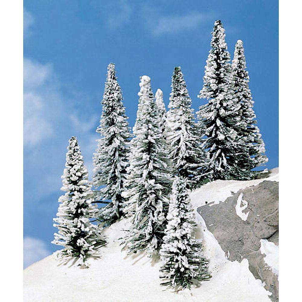 雪が積もる針葉樹 モミの木 5〜7cm 8本 :ヘキ 完成品 ノンスケール 2160