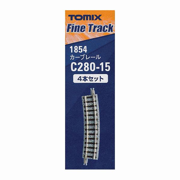 1854 ファイントラック カーブレールC280-15(F) (4本セット) :トミーテック 線路 N(1/150)