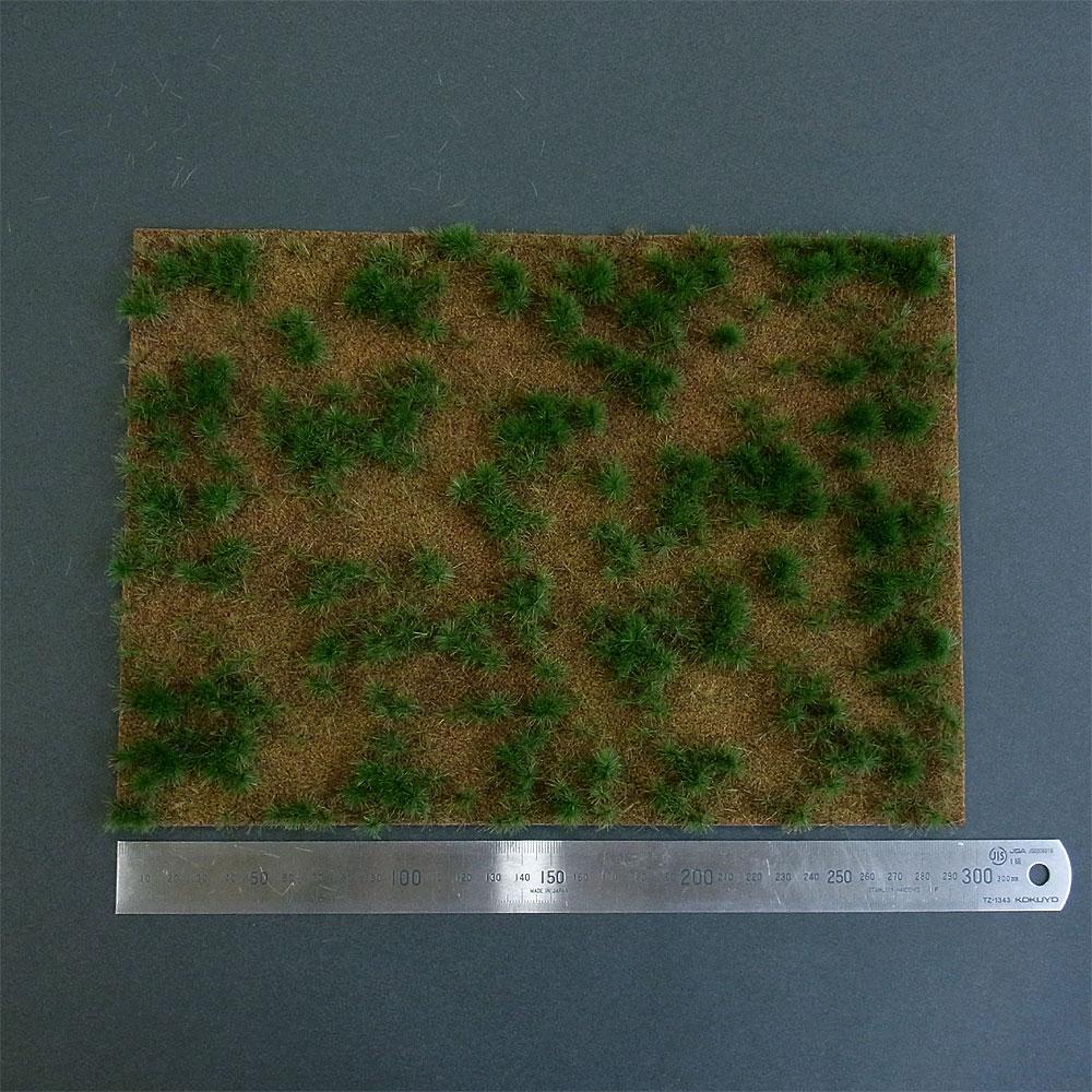 【芝生フィルム】 荒涼とした丘(ヒースランド)の草むら 3色混合 :ブッシュ 素材 HO(1/87) 1309