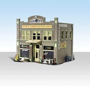 ハリソン金物店【LED付き】 :ウッドランド 塗装済完成品 N(1/160) 4921