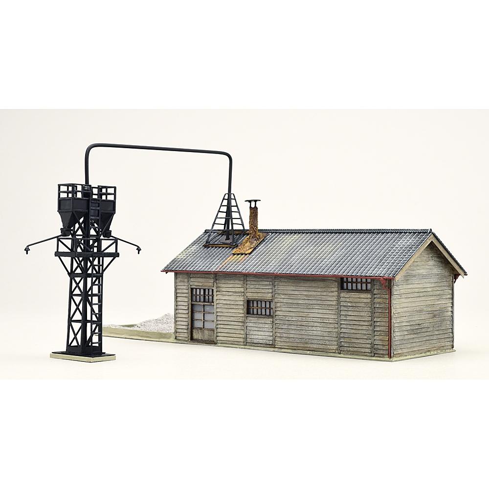 とれいん掲載 砂焼き小屋と給砂塔 :匠ジオラマ工芸舎 塗装済完成品 HO(1/80) 1048
