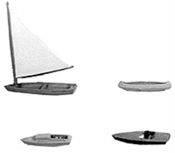 プレジャーボート :プラストラクト 未塗装キット N(1/160) 93542