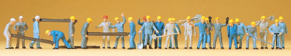 保線作業員 24人 :プライザー 塗装済完成品 HO(1/87) 14403