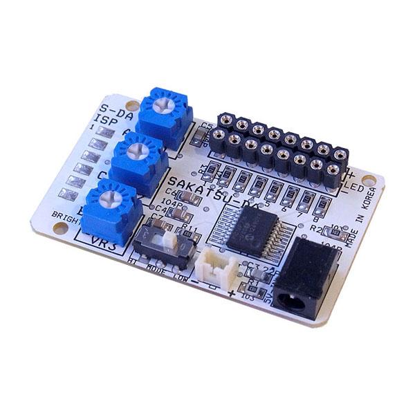 点滅制御 スーパー8 基本基板(コネクタ付LED用 8灯取付け可能) :さかつう 電子部品 2576