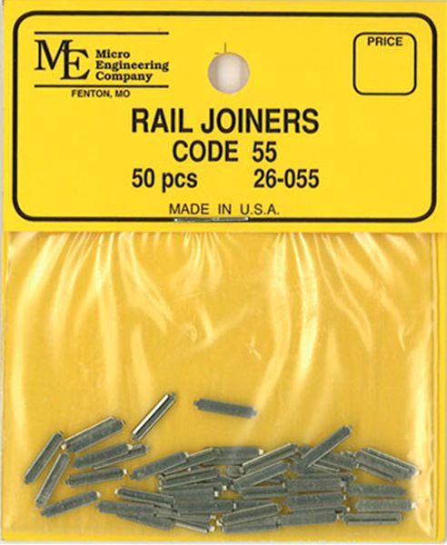 レールジョイナー コード55番用 50個入り :マイクロエンジニアリング 鉄道 素材 26-055