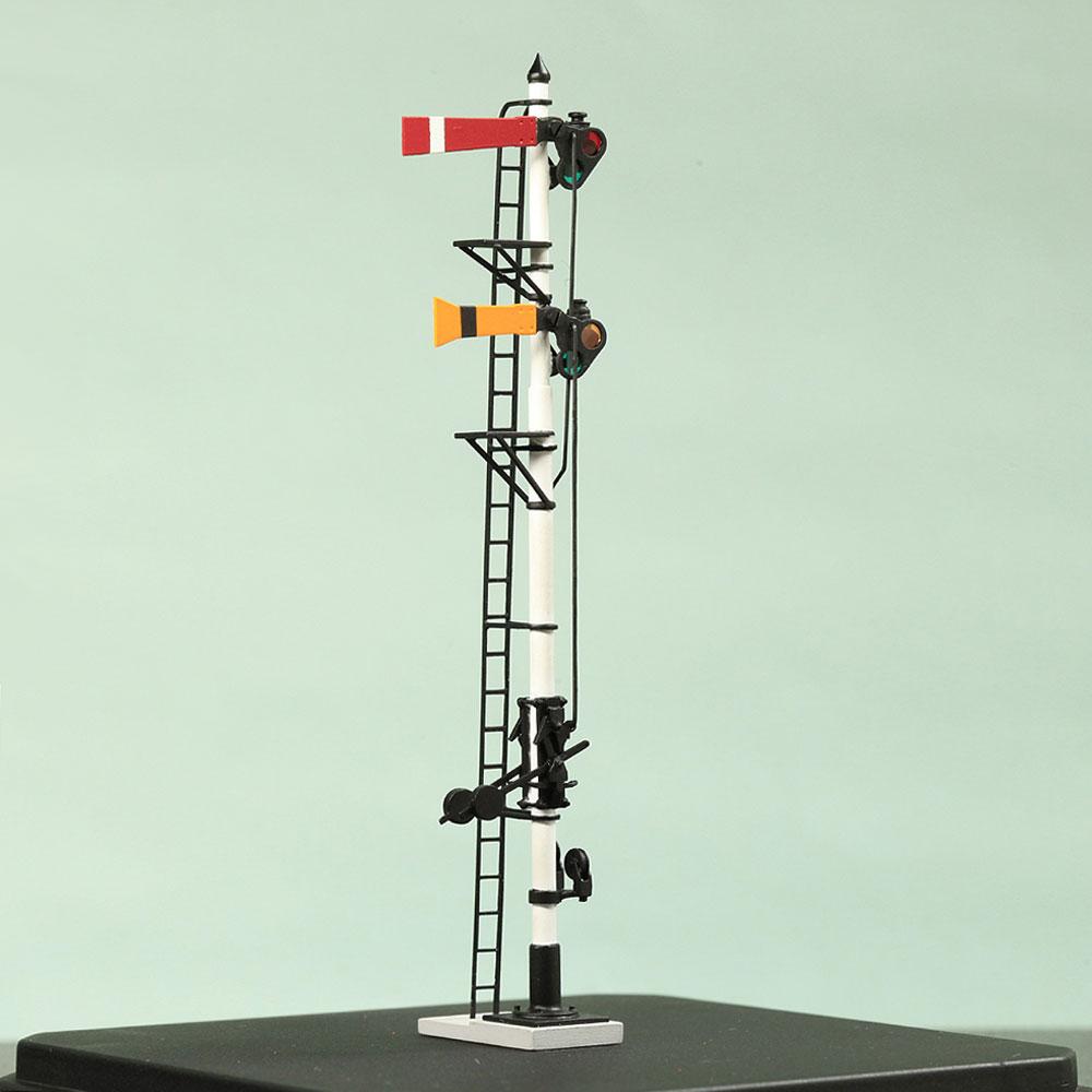 1/80 <可動式> 寒冷地仕様 腕木信号機 「場内/通過信号機 」主本線用 :工房ナナロクニ 塗装済完成品 1/80(HO) 1072