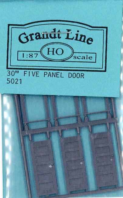 木製ドア 5枚パネル :グラントライン 未塗装キット(部品) HO(1/87) 5021