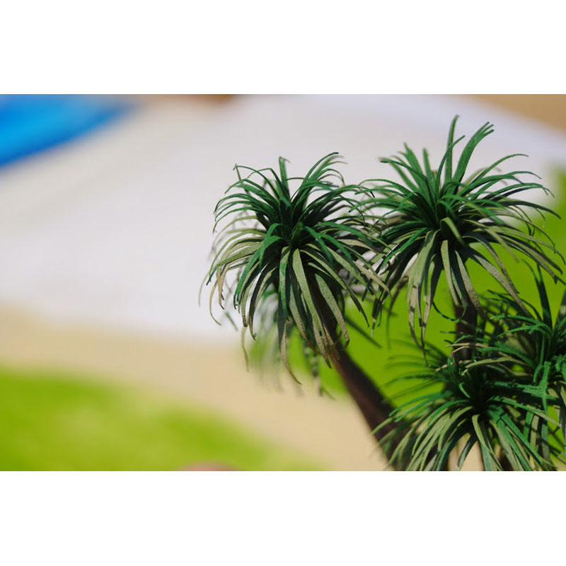 【模型】 11.ドラセナ緑 ベース付き 120mm :グリーンアート 完成品 1/43 1002-GB
