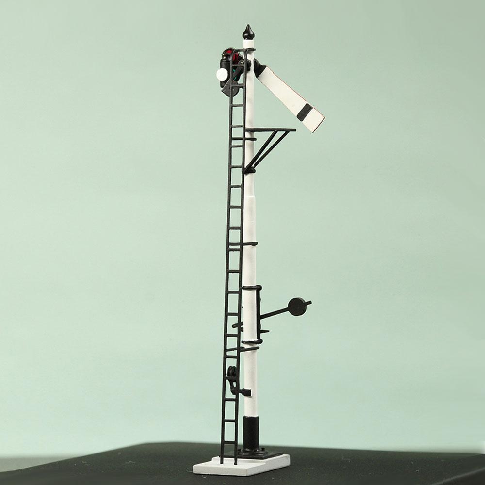 1/80 <可動式> 寒冷地仕様 腕木信号機 「出発信号機 」副本線用 :工房ナナロクニ 塗装済完成品 1/80(HO) 1073
