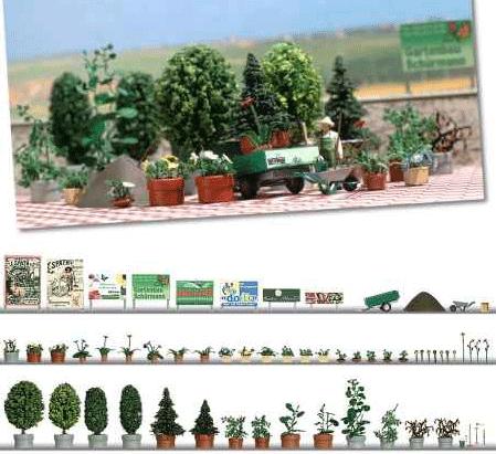 庭園を造るセットのキット :ブッシュ キット HO(1/87) 1211