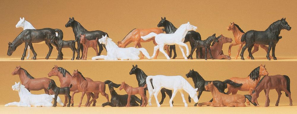 馬 26頭 :プライザー 塗装済完成品 HO(1/87) 14407