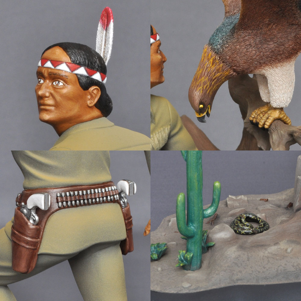 The Lone Ranger's Faithful Indian Companion! TONTO トント :淺木紳士郎 塗装済完成品 ノンスケール