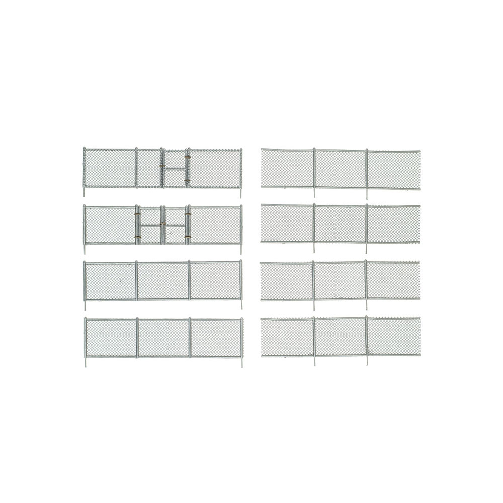 【模型】 金網のフェンス :ウッドランド 塗装済完成品 HO(1/87) A2983