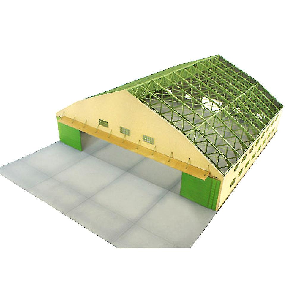 日本軍木造格納庫 :コバーニ 未塗装組み立てキット 1/144 93101