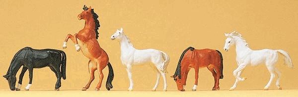 馬 5頭 :プライザー 塗装済完成品 HO(1/87) 10156