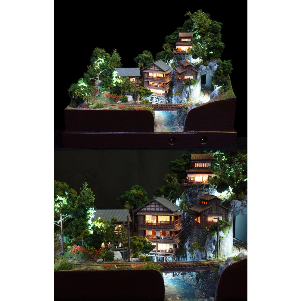 参の渓温泉 電気軌道 :山尾比呂士 塗装済完成品 1/150サイズ