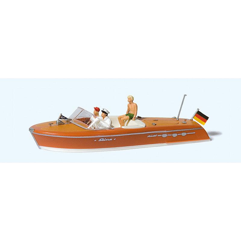 モーターボートのクルーと乗客(リーヴァ アリストン) :プライザー 塗装済完成品 HO(1/87) 10688