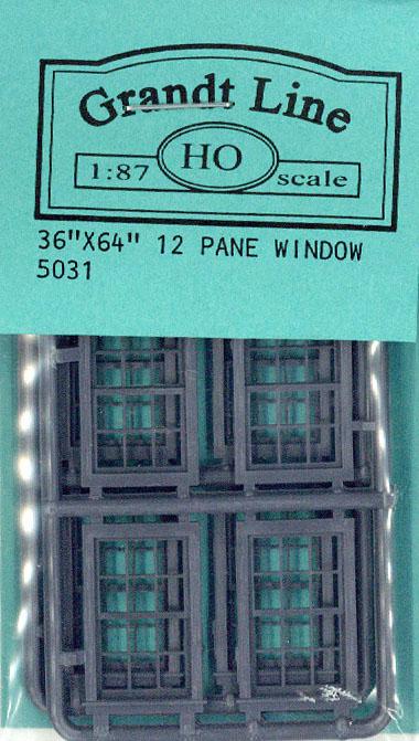 洋風窓 窓枠 :グラントライン 未塗装キット(部品) HO(1/87) 5031