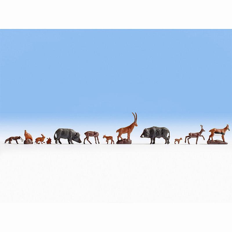 森の動物たち(鹿、野うさぎ、イノシシなど) :ノッホ 塗装済完成品 HO(1/87) 15745