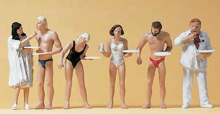 海辺の簡易食堂のお客 :プライザー 塗装済完成品 HO(1/87) 10424