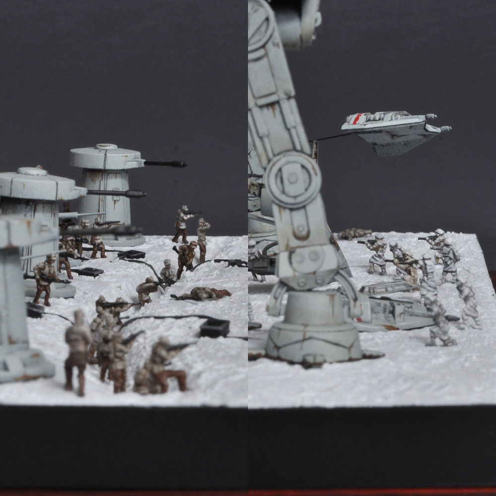 BATTLE ON ICE PLANET HOTH 氷の惑星ホスの戦い エピソード5 帝国の逆襲 :淺木紳士郎 塗装済完成品 ノンスケール