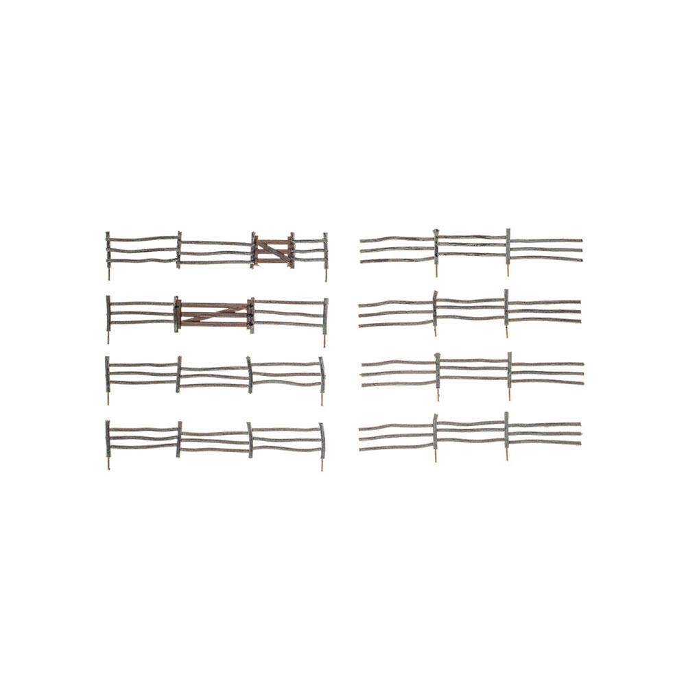 【模型】 丸太のフェンス :ウッドランド 塗装済完成品 HO(1/87) A2981
