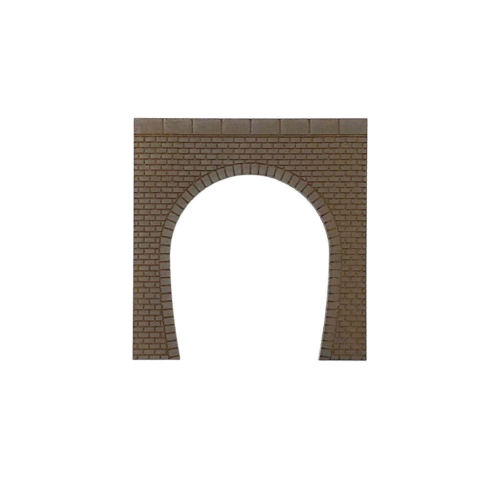 トンネルポータル レンガ 単線 茶色 2枚入り :ポポプロ 塗装済完成品 N(1/150) MS-001