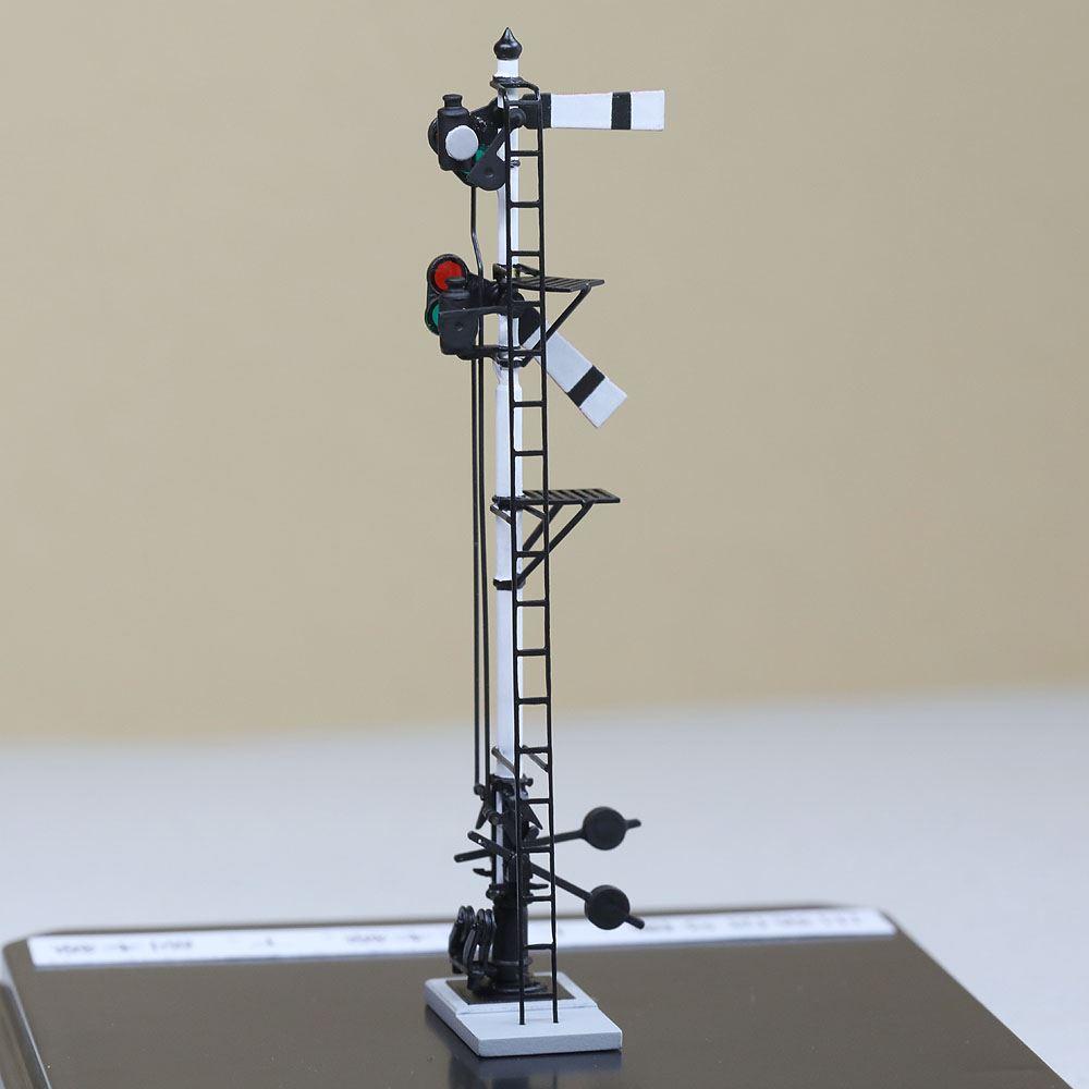 1/80 <点灯・可動式> 腕木信号機 「出発信号機 」主/副本線二段 :工房ナナロクニ 塗装済完成品 1/80(HO) 1076