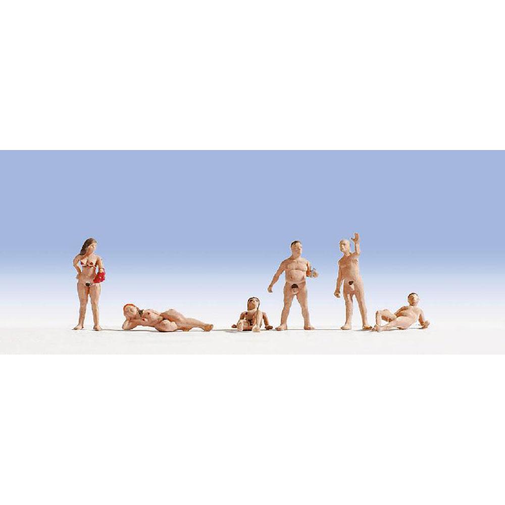 ヌーディスト(裸で入浴) :ノッホ 塗装済完成品 HO(1/87) 15843