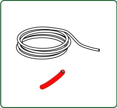 極細コード 外径約0.38mm 赤色 :さかつう 素材 ノンスケール 4511