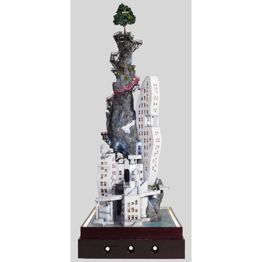 絶壁月見台 弐號棟(2ごうとう) :山尾比呂士 塗装済完成品 1/150サイズ