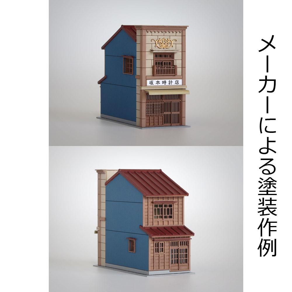 3軒続きの看板建築A :梅桜堂 N(1/150) 未塗装キット ST-003-15U