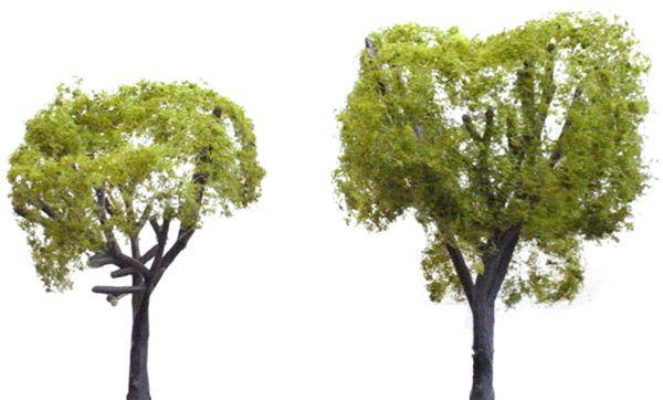 広葉樹 5〜7.6cm 4本 :ウッドランド 完成品 ノンスケール 3503