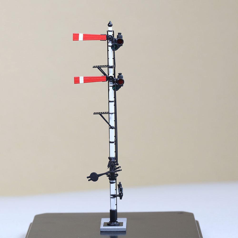 1/80 <点灯・可動式> 降雪地仕様 腕木信号機 「場内信号機 」主/副本線二段 :工房ナナロクニ 塗装済完成品 1/80(HO) 1077