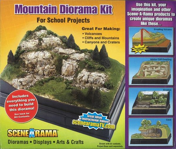 山岳ジオラマキット ノンスケール(MOUNTAIN DIORAMA KIT) :ウッドランド キット ノンスケール SP4111