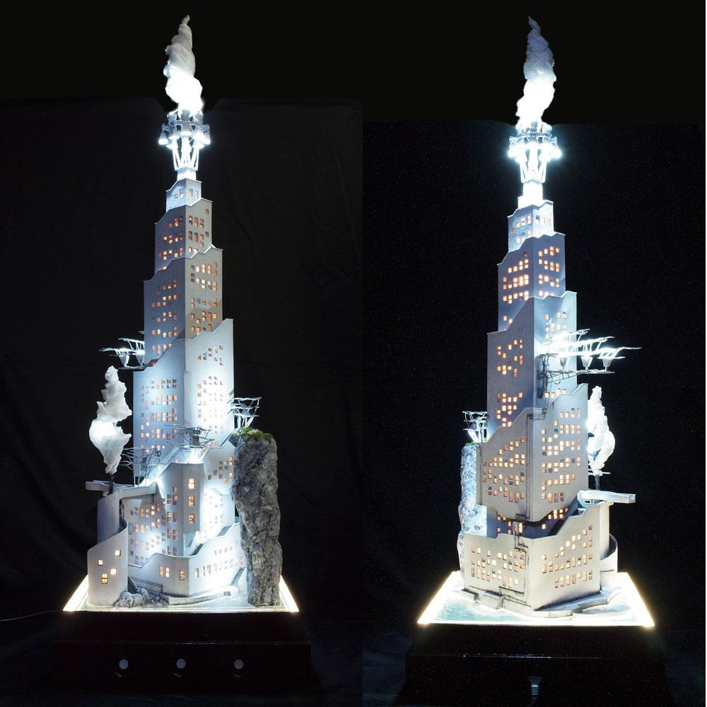大凌雲閣 参號棟(3ごうとう) :山尾比呂士 塗装済完成品 1/150サイズ