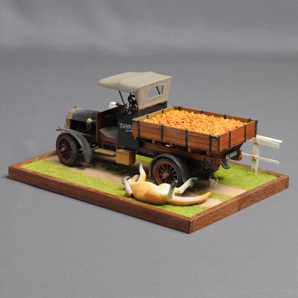 「オレンジ農家のトラック」 :西村慶明 バス&トラック作品 1/32scale