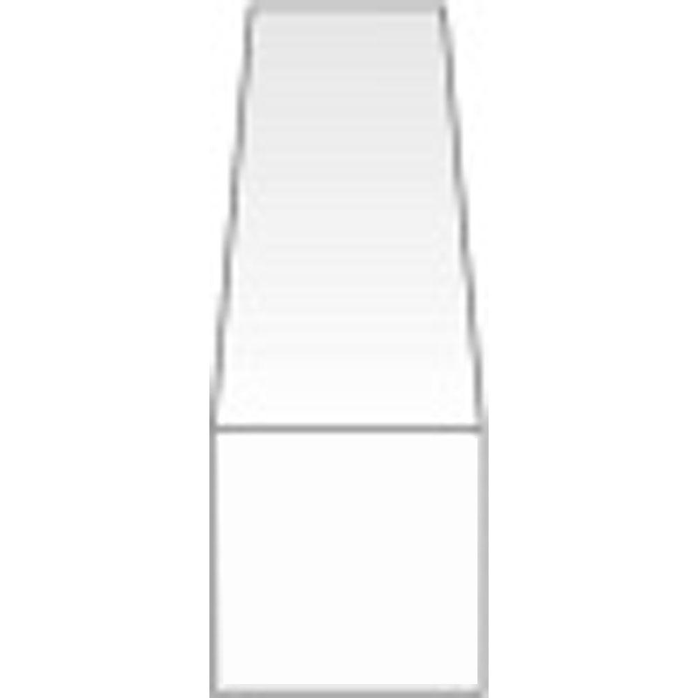 角棒 0.25 x 0.5 x 350 mm :エバーグリーン プラ材 ノンスケール 100
