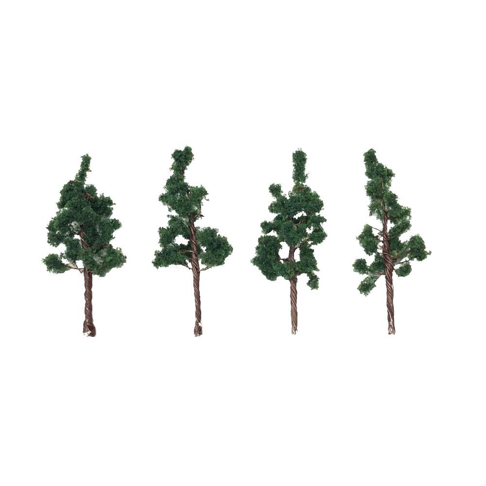 樹木 深緑色 50mm 4本入り :ポポプロ 完成品 ノンスケール MT-006