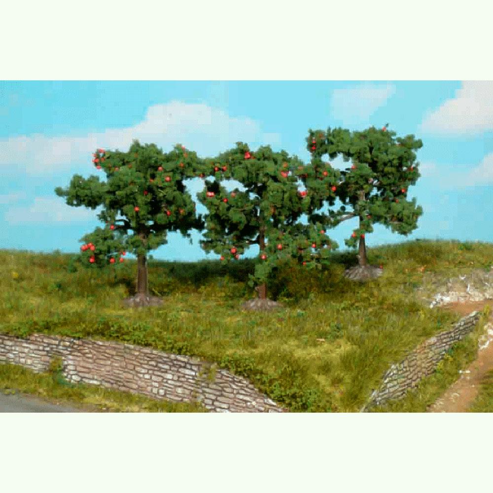 りんごの木 8cm 3本 :ヘキ 完成品 ノンスケール 1160