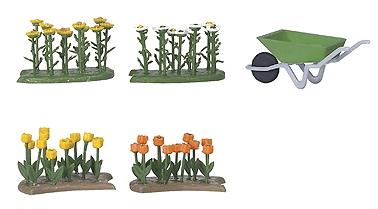 花壇のチューリップとデイジー :ブッシュ 完成品 HO(1/87) 1231
