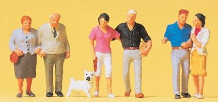 カップルと犬 :プライザー 塗装済完成品 HO(1/87) 10527
