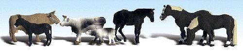 牧場の家畜 :ウッドランド 塗装済完成品 HO(1/87) 1888